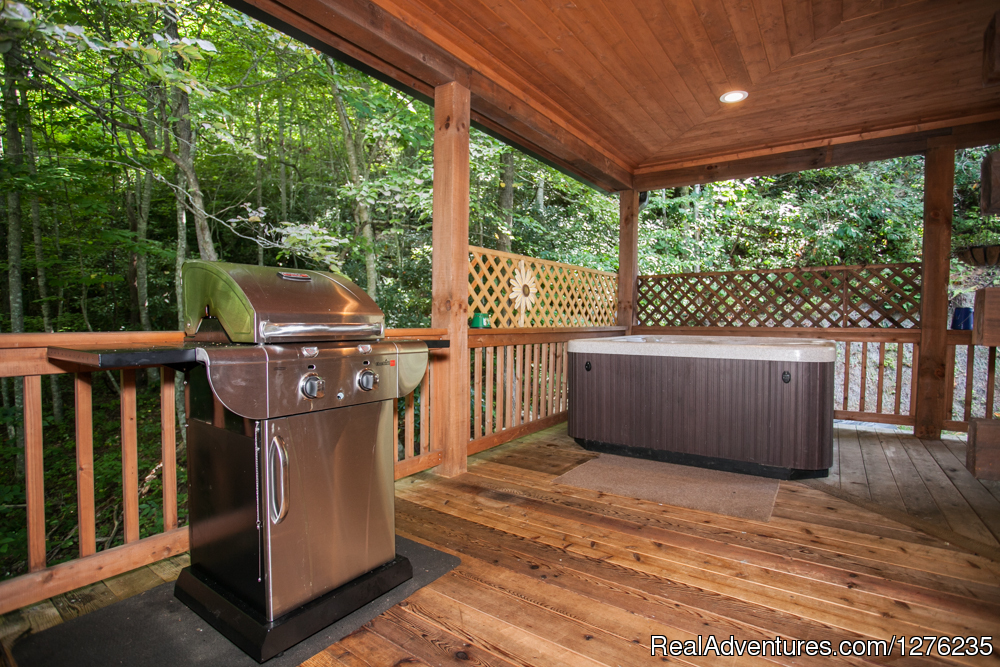Hot Tub and Grill on Deck