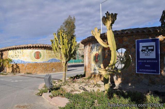 AC Vera - Motor Home Park in Vera, Almeria, Spain Entrance to AC Vera