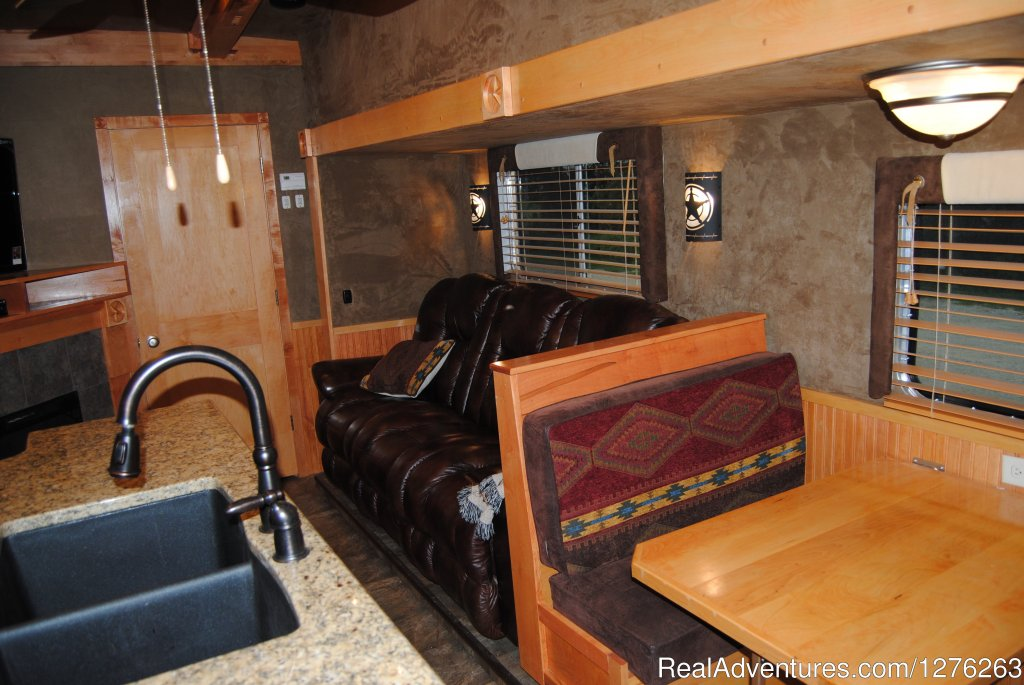 View inside of our custom built $160,000 Horse Trailer | Image #13/13 | Vacation at Iowa's all inclusive DD Guest Ranch