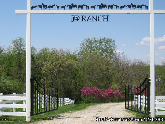 Entrance to our ranch - Vacation at Iowa's all inclusive DD Guest Ranch