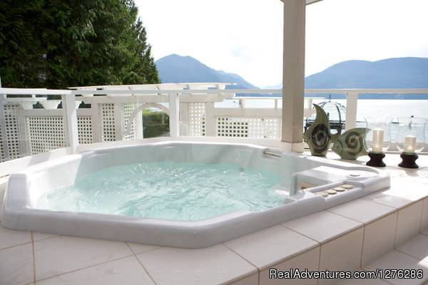 Outdoor Hot Tub overlooking the Lake (#2 of 6) - Harrison Lakehaven B&B