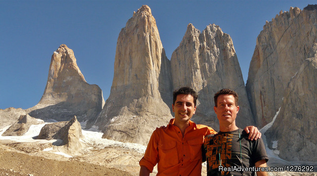 Your hosts Felipe and Perry in Torres del Paine, Chile - Fully Hosted Patagonian Overland Odyssey