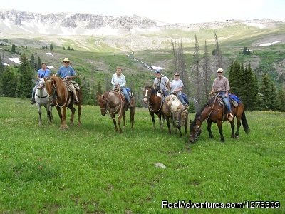 Enjoy Horseback camping and fishing in Northwest Wyoming. By the day or week.