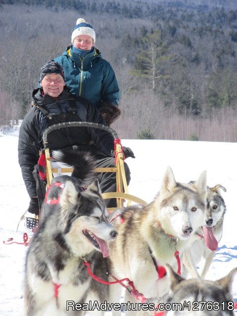 Musher Training with our Double Driver Sled - Valley Snow Dogz - White Mountain Sled Dog Tours