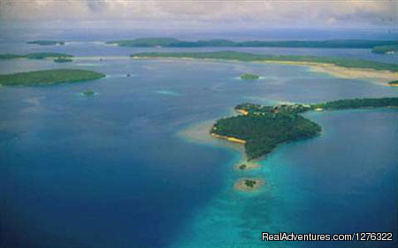 Aerial View of Vava'u Islands - Tropical Kayak Adventures in the Kingdom of Tonga