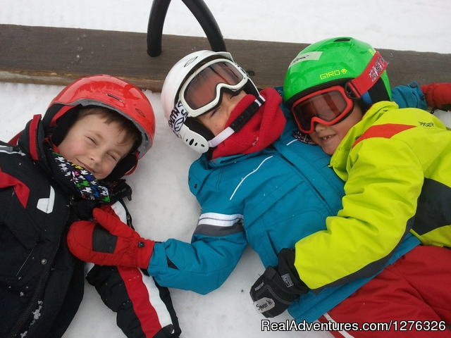 Skiing with the triplets Coronet Peak - Private Ski Instruction at Coronet Peak Queenstown