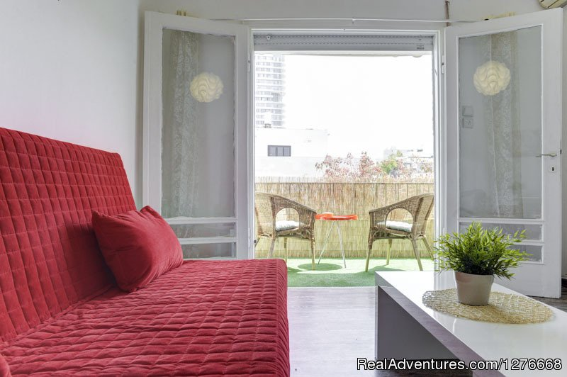 A great cosy and modern 1 bedroom apartment with a sunny balcony. 55 sqm. on the 3rd  floor ,no elevator.(not a high 3rd floor)
