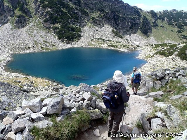 Descending from Musala, the highest on the Balkans - Hiking in Bulgaria with a Private Guide