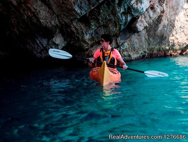 Stunning rock formations - Croatia Sea Kayaking