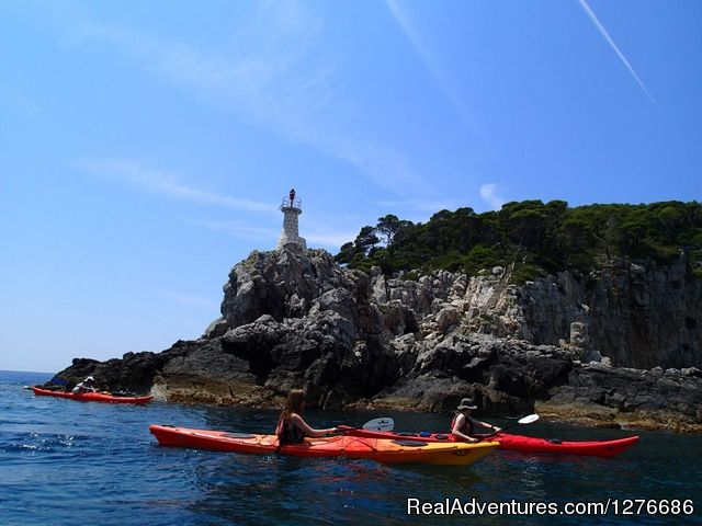 Island of Kolocep Lighthouse - Croatia Sea Kayaking