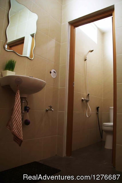 Shared Bathroom - Room for Rent In Central Jakarta