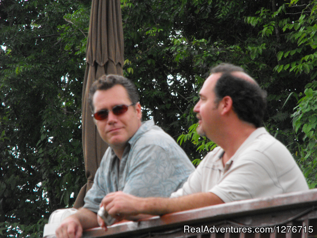 Host Caribbean Chris and producer Sonny in the rainforest - Adventures in the Caribbean