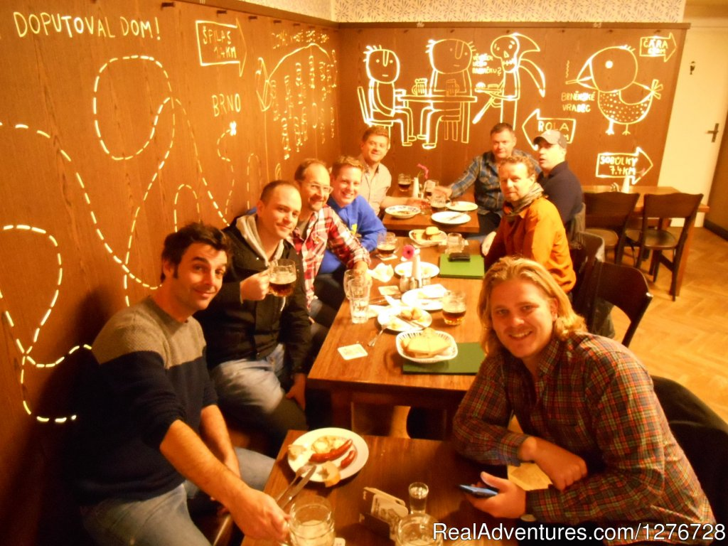 Ice-hockey team from London in Brno restaurant, private trip | Image #13/21 | ATYPUS ADVENTURES - european private tours
