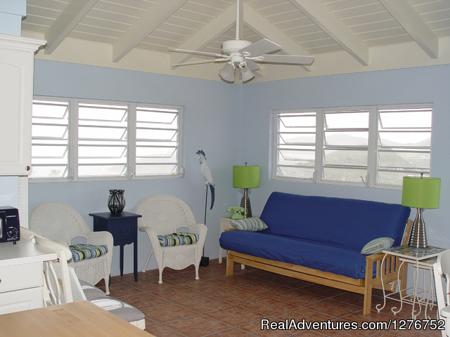 Sitting area in Slow Mocean - Private house on the Smallest of the USVI