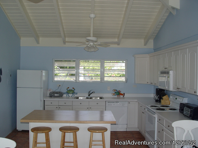 Kitchen in Slow Mocean - Private house on the Smallest of the USVI