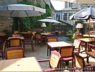 The Terrace of the Hotel Pierre du Calvet