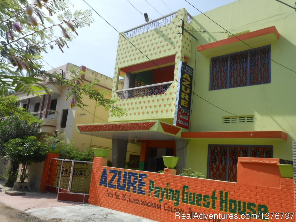 Azure Family Paying Guest House is family run guest house located 10 minutes of walkable distance from the city center and 10 minutes of ride from Varanasi Jn railway station. Rooms are clean, big with large bathrooms ,shower and western loo and balc
