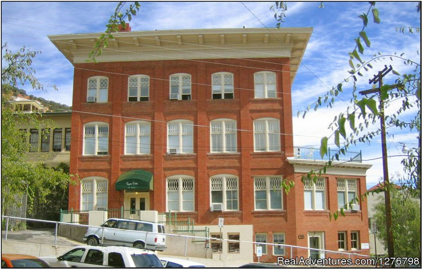 Originally built in 1903 as the Copper Queen Gymnasium, the building was renovated into spacious apartments in 1985. These suites are now fully furnished for travelers to Bisbee and SE Arizona a place to curl up for the night, a home away from home.