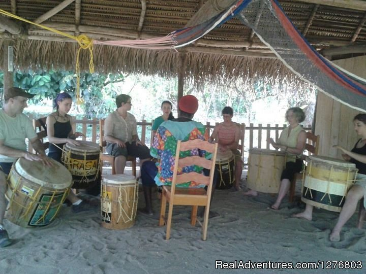 A group drumming lesson | Image #4/6 | Authentic Garifuna Culture at Warasa Drum School