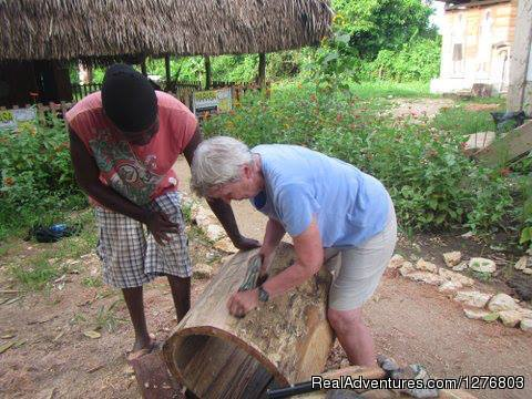 Enjoying a spot of drum-making | Image #2/7 | Authentic Garifuna Culture at Warasa Drum School