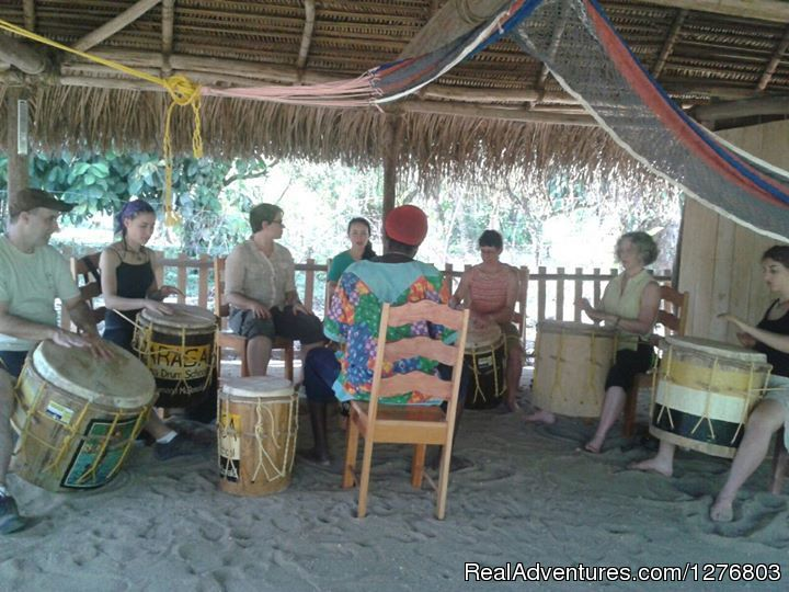 A group drumming lesson | Image #4/7 | Authentic Garifuna Culture at Warasa Drum School