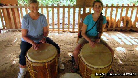 All smiles at the end of their lesson - Authentic Garifuna Culture at Warasa Drum School