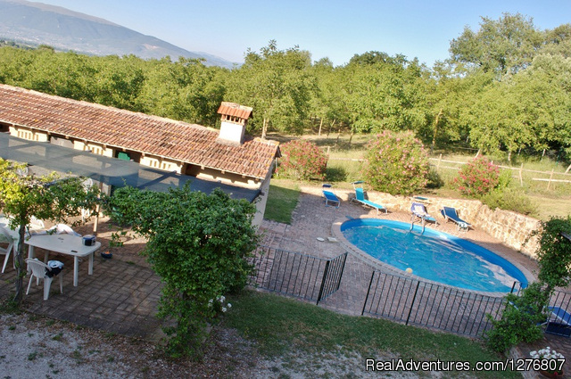 View From Window - Old stonehouse with pool in the heart of Italy