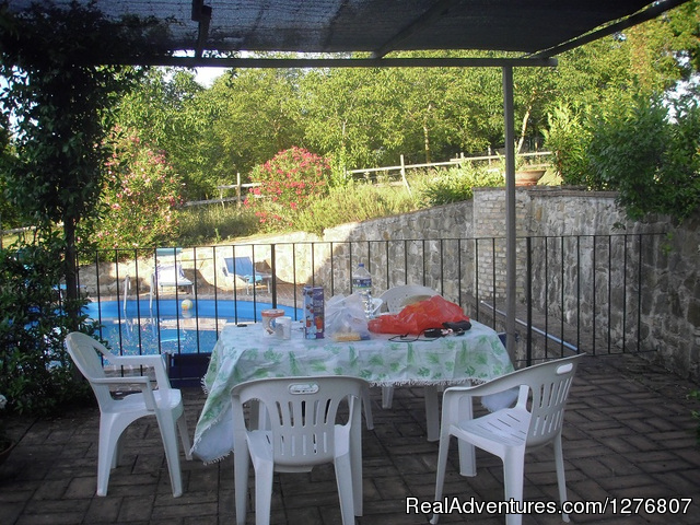 Outdoor Tables And Chairs - Old stonehouse with pool in the heart of Italy
