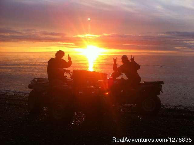ATVing at sunset in Alaska - Best Denali View ATV & Snowmobile Tours in Alaska