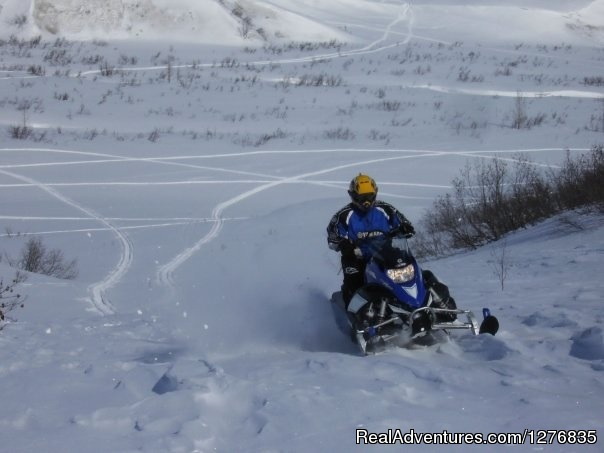 Snowmobile in Petersville, Alaska - Best Denali View ATV & Snowmobile Tours in Alaska