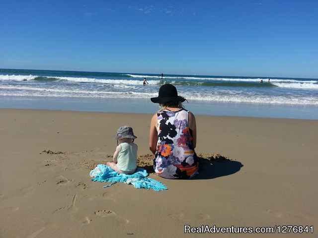 Travel with a little help- My travelling Nanny: One of our nannies and her new best friend