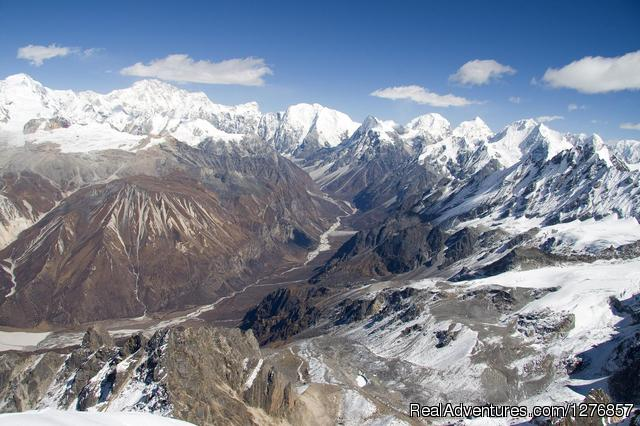 Massif glacier view from Tsherkhuri view point in Langtang - Nepal Trekking & Tour Agency