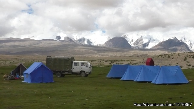 Camping while on Kailash tour via Simikot - Nepal Trekking & Tour Agency