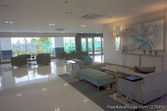 Stylish lobby - Sea Residences Condominium next to SM Mall of Asia