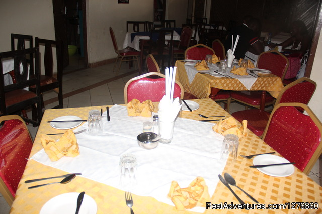 Hotels Restaurant serving all Breakfast, meals & refreshment - Vacation Rental Apartment and Hotel. Kisumu,Kenya