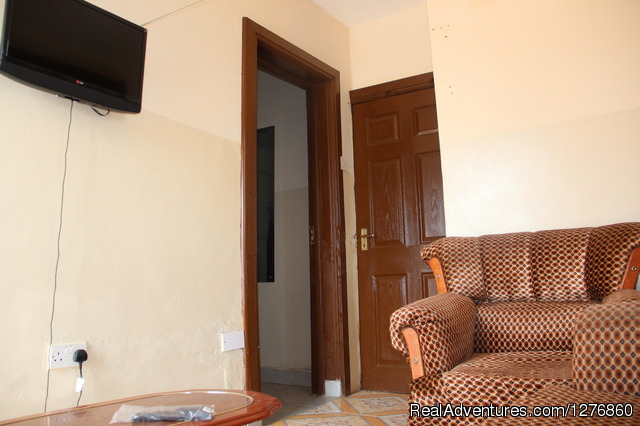 Furnished apartment living room - Vacation Rental Apartment and Hotel. Kisumu,Kenya