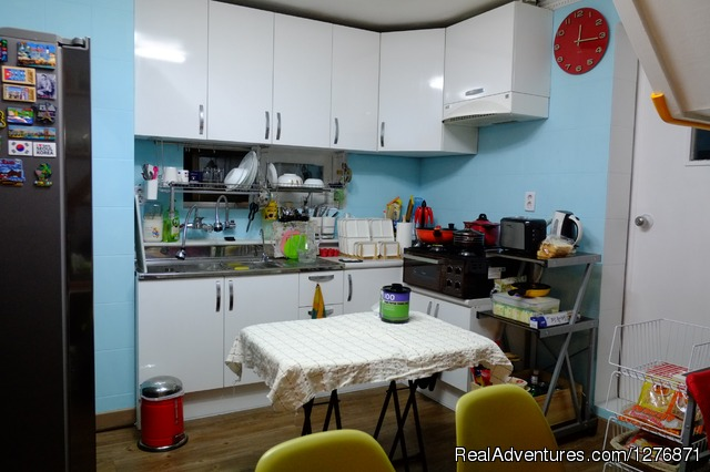 Kitchen - BnB Guesthouse GET Hongdae, Seoul
