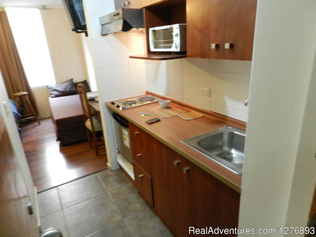 Small apartment for vacation Rentals, r tourist visiting Santiago. Full furnished grat location