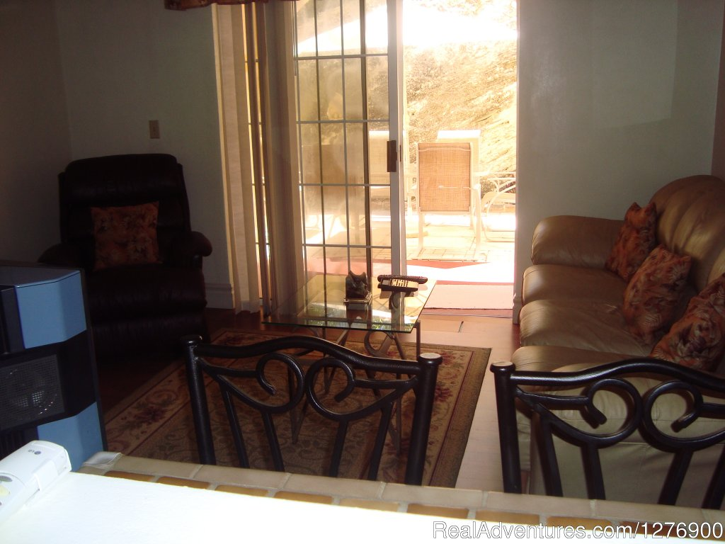 Peep through from kitchen to living room | Image #7/9 | Beautiful Apartment near Golf and Beaches-sleeps 4