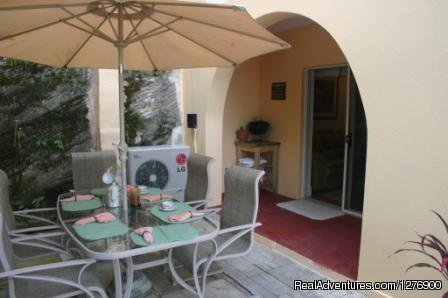 Outside Patio | Image #9/9 | Beautiful Apartment near Golf and Beaches-sleeps 4