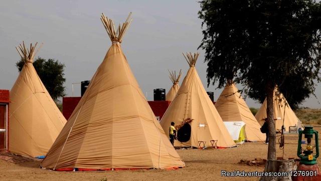 TIPI Tents - Umaid Safaris & Desert Lodge, Bikaner