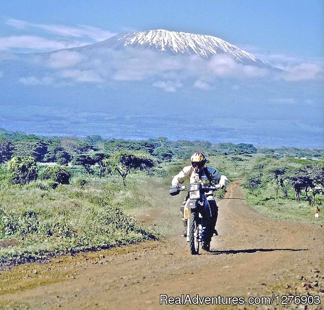 On Kilimanjaro trail Kenya - Motorbike Safaris in East Africa