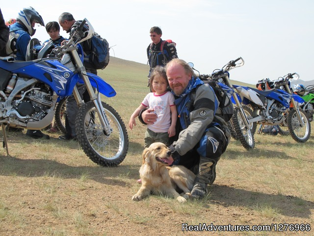 Family on the road (#4 of 8) - Motor cycles in Mongolia