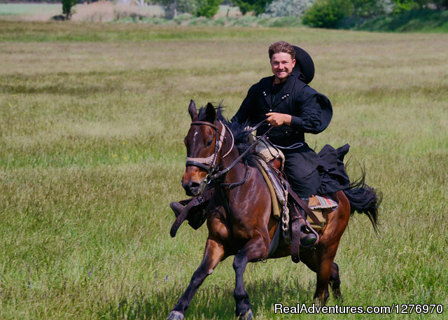 Explore the Hungarian Puszta on horse back: The 'Csikos' is the mounted horse-herdsman of Hungary