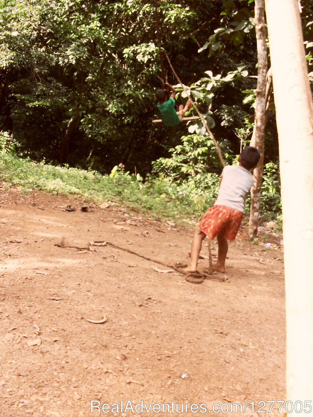 Traditional Akha swing | Image #7/8 | Authentic hill tribe living on a private campsite