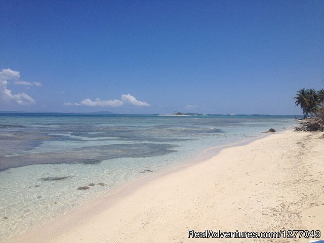 View From a deserted island.... - Private Sail Boat Charters Puerto Rico
