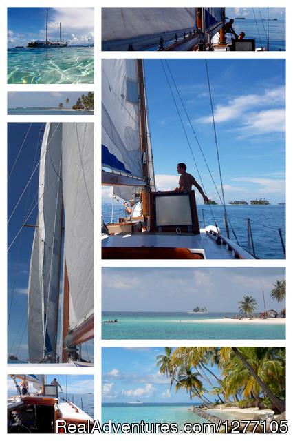 Sailing San Blas Panama Ave Maria sailing in San Blas