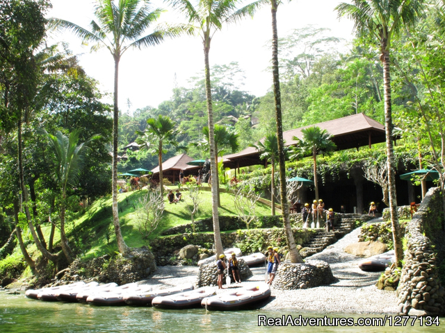 River Landing Point - White Water Rafting at Ayung River, Ubud, Bali