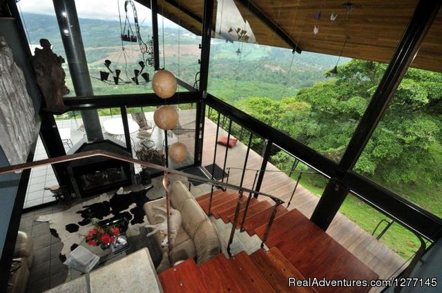 From upstairs, view of the valley - Volare-In the heart of adventure in Costa Rica