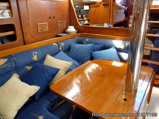 Mischief s interior - Sailing in San Blas Islands